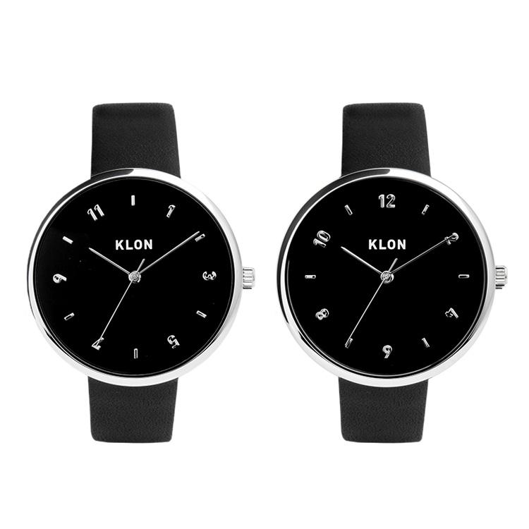 KLON PASS TIME ELFIN【BLACK SURFACE】38mm , レディース メンズ ペアウォッチ 腕時計 黒 シンプル モノトーン 誕生日 ペアウォッチ クリスマス