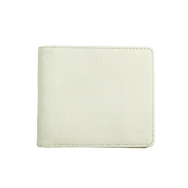 KLON 2 FOLD WALLET WHITE , レディース メンズ 財布 サイフ 白 二つ折り 本革 ブランド モノトーン 秋 冬 財布 クリスマス