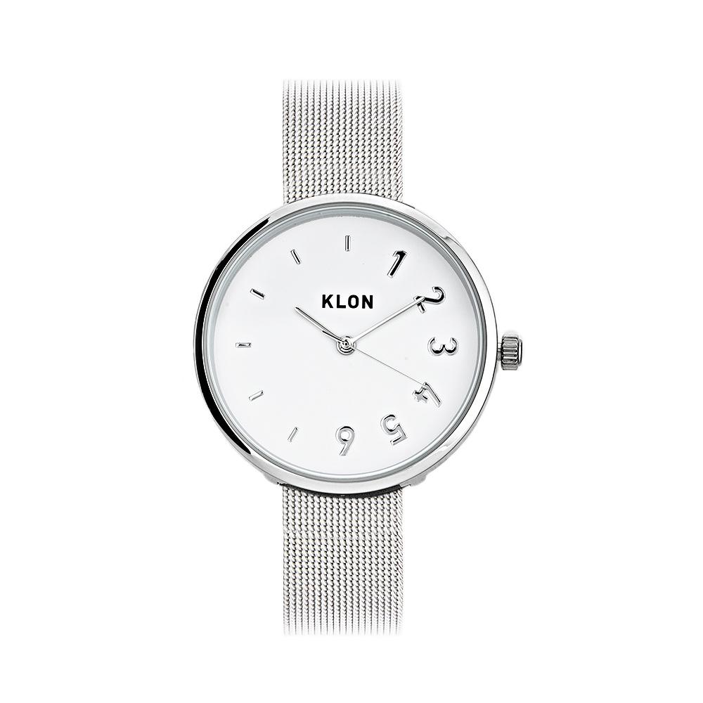 KLON CONNECTION DARING FIRST -SILVER MESH- 33mm , レディース メンズ 腕時計 シルバー シンプル モノトーン モノクロ 誕生日 秋 冬 腕時計 クリスマス