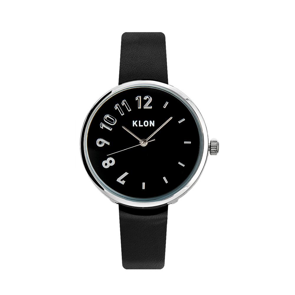 KLON CONNECTION DARING LATTER 【BLACK SURFACE】 33mm , クローン レディース メンズ 腕時計 黒 シンプル モノトーン モノクロ 誕生日 夏 腕時計 お揃い 祝い ギフト プレゼント