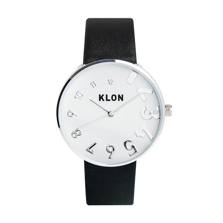 KLON EDDY TIME BLACK Ver.SILVER 40mm , クローン レディース メンズ 腕時計 シルバー シンプル モノトーン モノクロ 誕生日 夏 腕時計 お揃い 祝い ギフト プレゼント