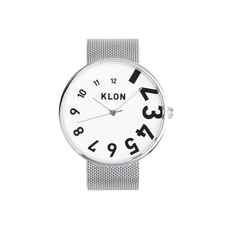KLON EDDY TIME -SILVER MESH- 40mm , レディース メンズ 腕時計 シルバー シンプル モノトーン モノクロ 誕生日 秋 冬 腕時計 クリスマス