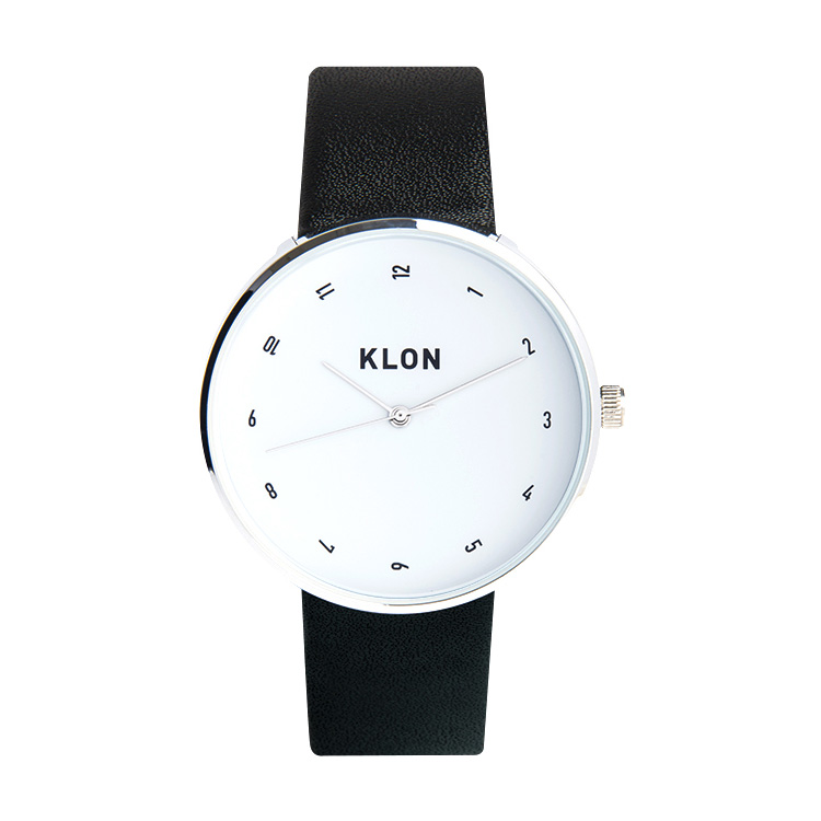 KLON FLOWING TIME 40mm , クローン レディース メンズ 腕時計 黒 シンプル モノトーン モノクロ 誕生日 夏 腕時計 お揃い 祝い ギフト プレゼント