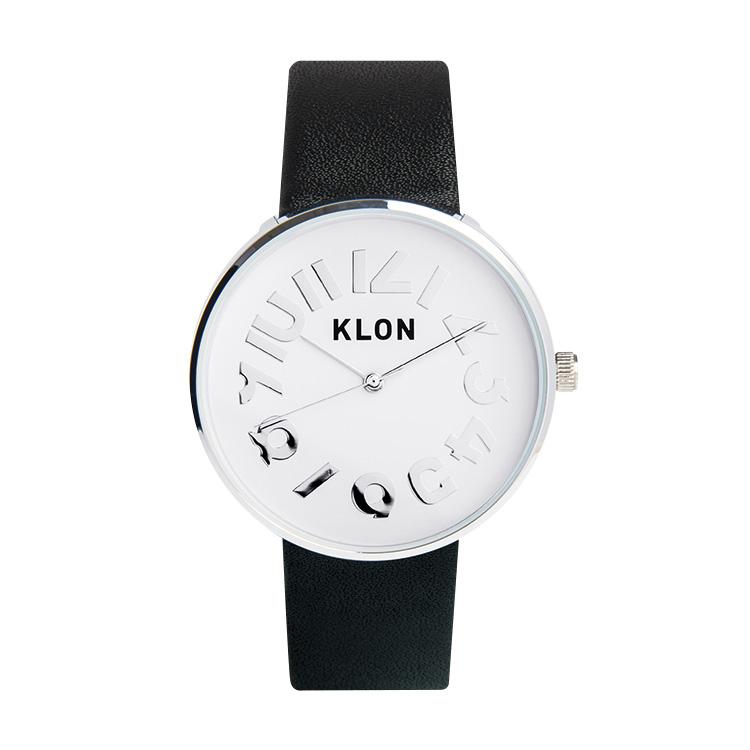 KLON HIDE TIME BLACK Ver.SILVER 40mm , レディース メンズ 腕時計 黒 シンプル モノトーン モノクロ 誕生日 秋 冬 腕時計 クリスマス