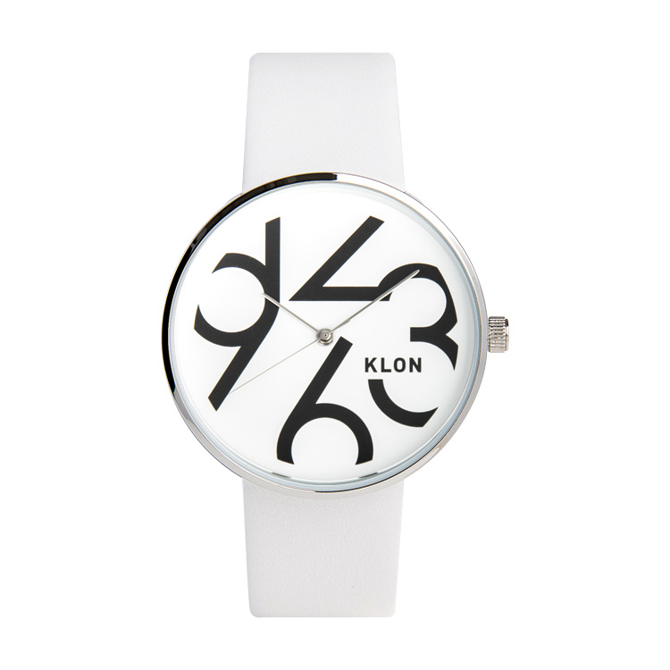 KLON QUARTER TIME WHITE 40mm , クローン レディース メンズ 腕時計 白 シンプル モノトーン モノクロ 誕生日 夏 腕時計 お揃い 祝い ギフト プレゼント