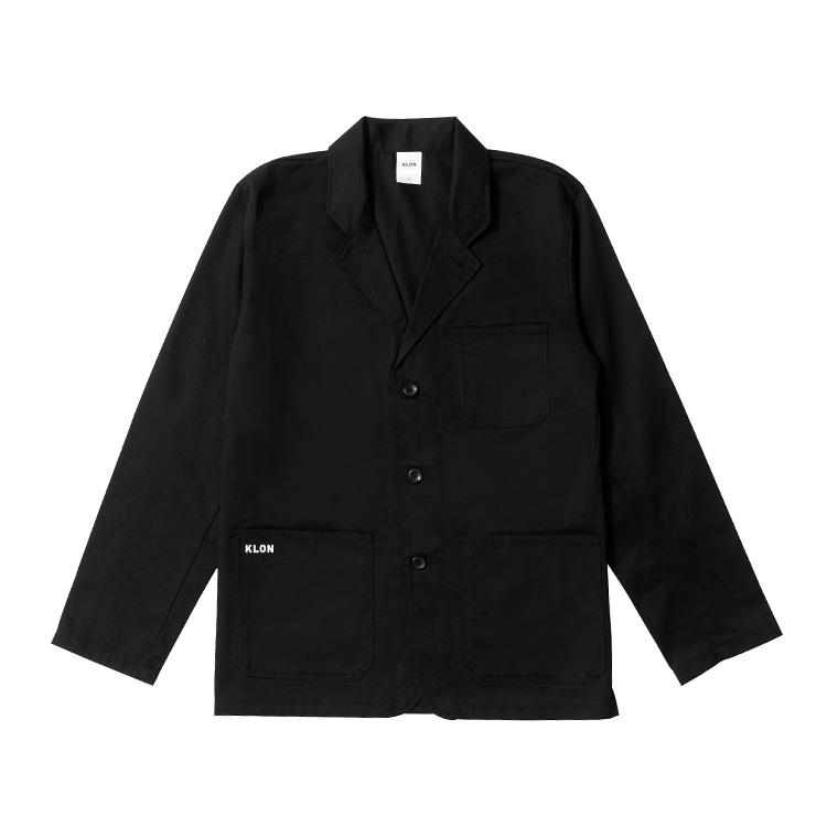 KLON WORK JACKET , クローン レディース メンズ アウター 黒 モノトーン シンプル シャツ M L XLアウター お揃い 祝い ギフト プレゼント