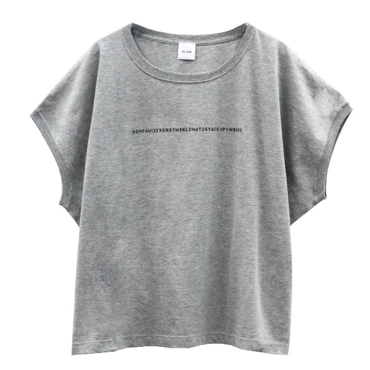 KLON SLEEVE-LESS WIDE Tshirts SERIAL NUMBER GRAY , クローン レディース メンズ Tシャツ Tshirt グレー モノトーン シンプル 夏 S M L Tシャツ 進学 お揃い 祝い 就活