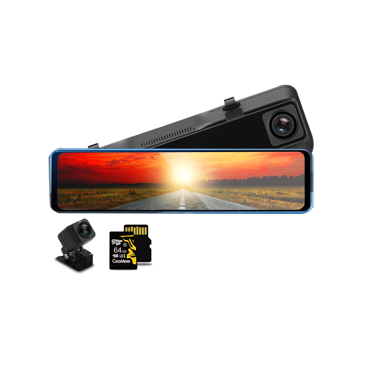 【待望★】 HONDA インサイト 2020年モデル ドライブレコーダー 前後カメラ 12インチ ミラー型 SDカード64GB同梱モデル あおり運転対策 FHD 2K 1080p 200万画素 タッチパネル 170度広角 バックカメラ 6ヶ月保証, 亜東書店- ac64d4ef