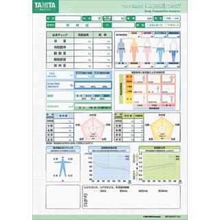 業務用MC-180専用印刷台紙 MC-180-01 (グリーン) 1000枚【タニタ】【体組成計】