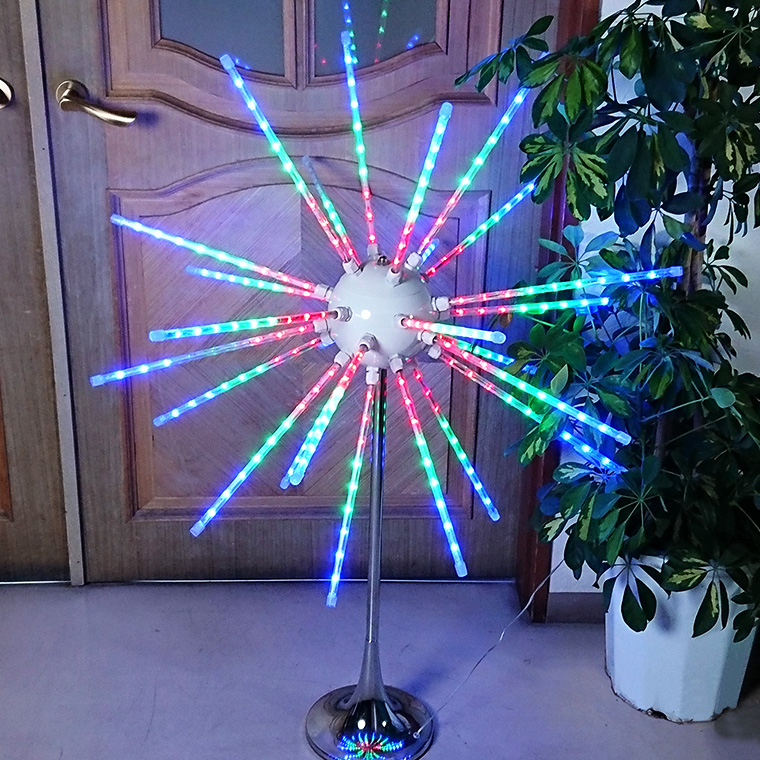 イルミネーション 電子花火 スタンド式 3D LED花火 LED ライト 電飾 大型 装飾 イベント 庭 クリスマス