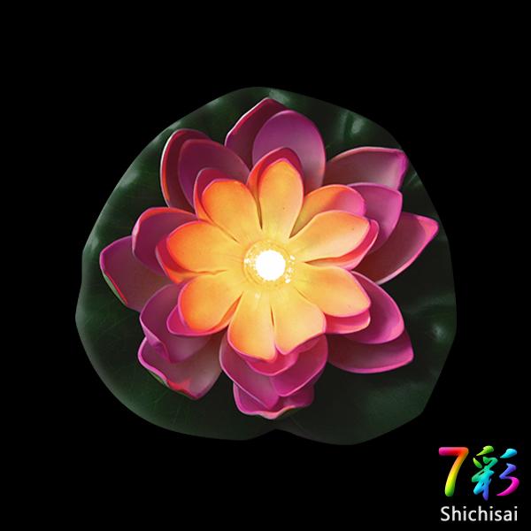 生活防水 led 莲花荷花荷叶花室内浮的莲花人工水发光闪烁发光的花