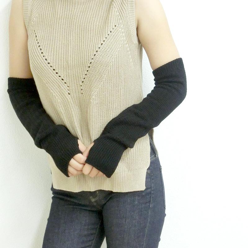 [メール便]メリノウール アームウォーマー 指穴あり/レギュラー丈 ウール のあったかアームウォーマー 滑らかな肌触り natural sunny