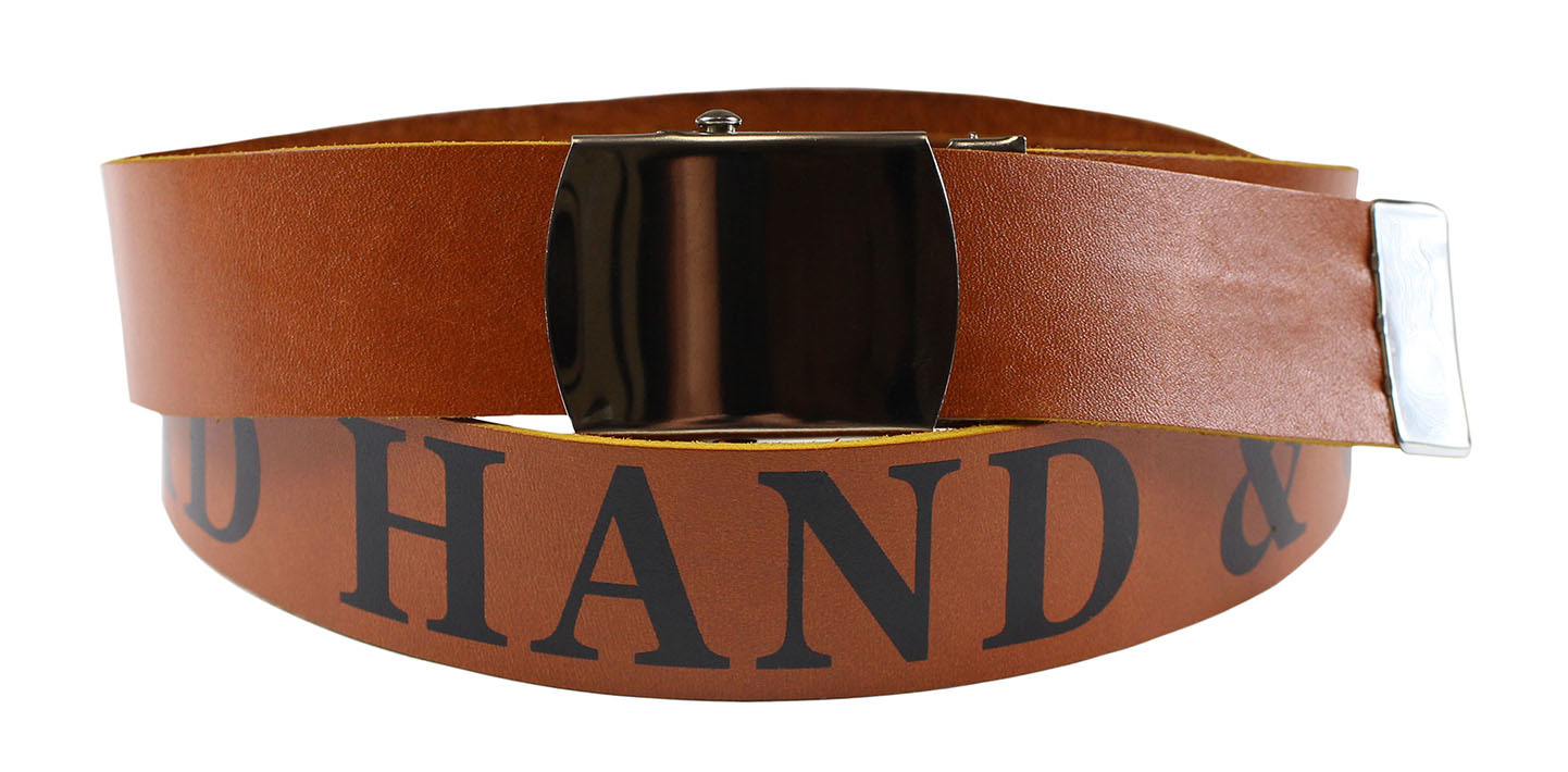 GLAD HAND & Co. [USA LEATHER -GH - SCOUT BELT- GOLDEN BROWN size.S,M,L,XL]