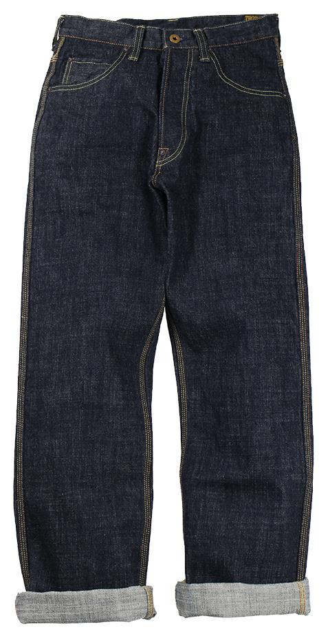 TROPHY CLOTHING [-1604 Waist Overall Dirt Denim- Indigo w.30,32,34,36,38]