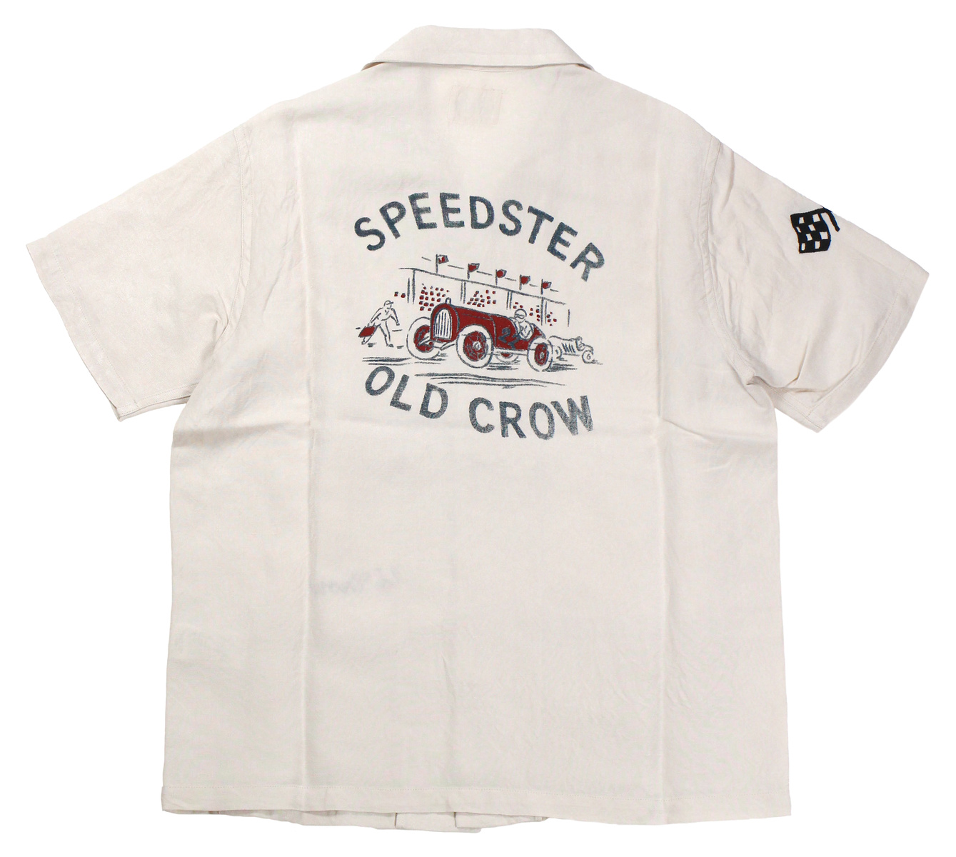OLD CROW [-SPEEDSTER - S/S SHIRTS- IVORY size.S,M,L,XL]