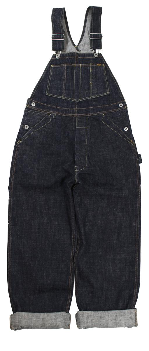 TROPHY CLOTHING [-1603 Carpenter Overall Dirt Denim- Indigo w.30,32,34,36,38]