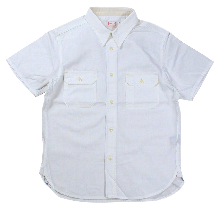 TROPHY CLOTHING [-Harvest S/S Shirt- White size.14,15,16,17]
