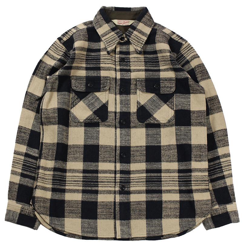 TROPHY CLOTHING [-Buffalo L/S Shirt- Ivory size.14,15,16,17]