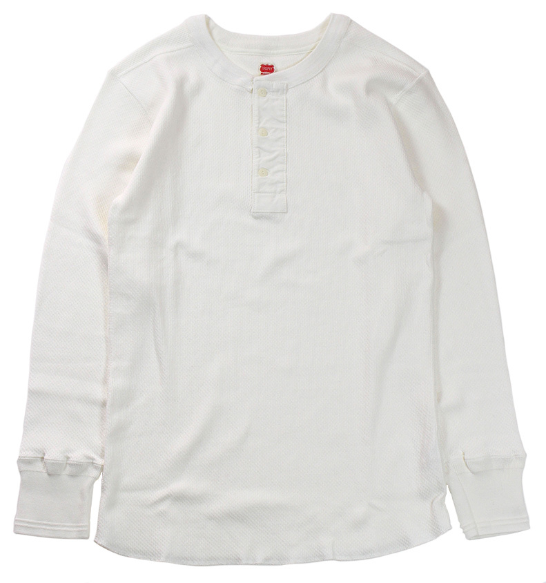 TROPHY CLOTHING [-Beehive Thermal Henley L/S- White size.36,38,40,42]