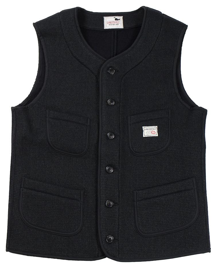GANGSTERVILLE [-THUG - BEACH VEST- BLACK size.S,M,L,XL]