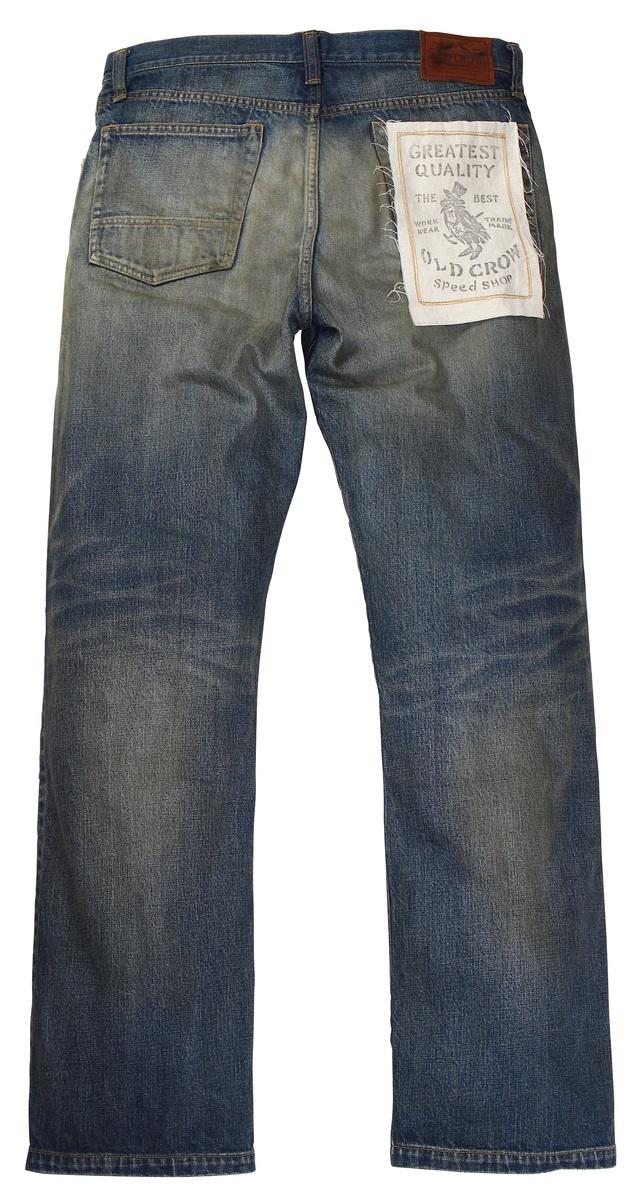 OLD CROW [-RODDER - DENIM PANTS- INDIGO VINTAGE FINISH size.S,M,L,XL]