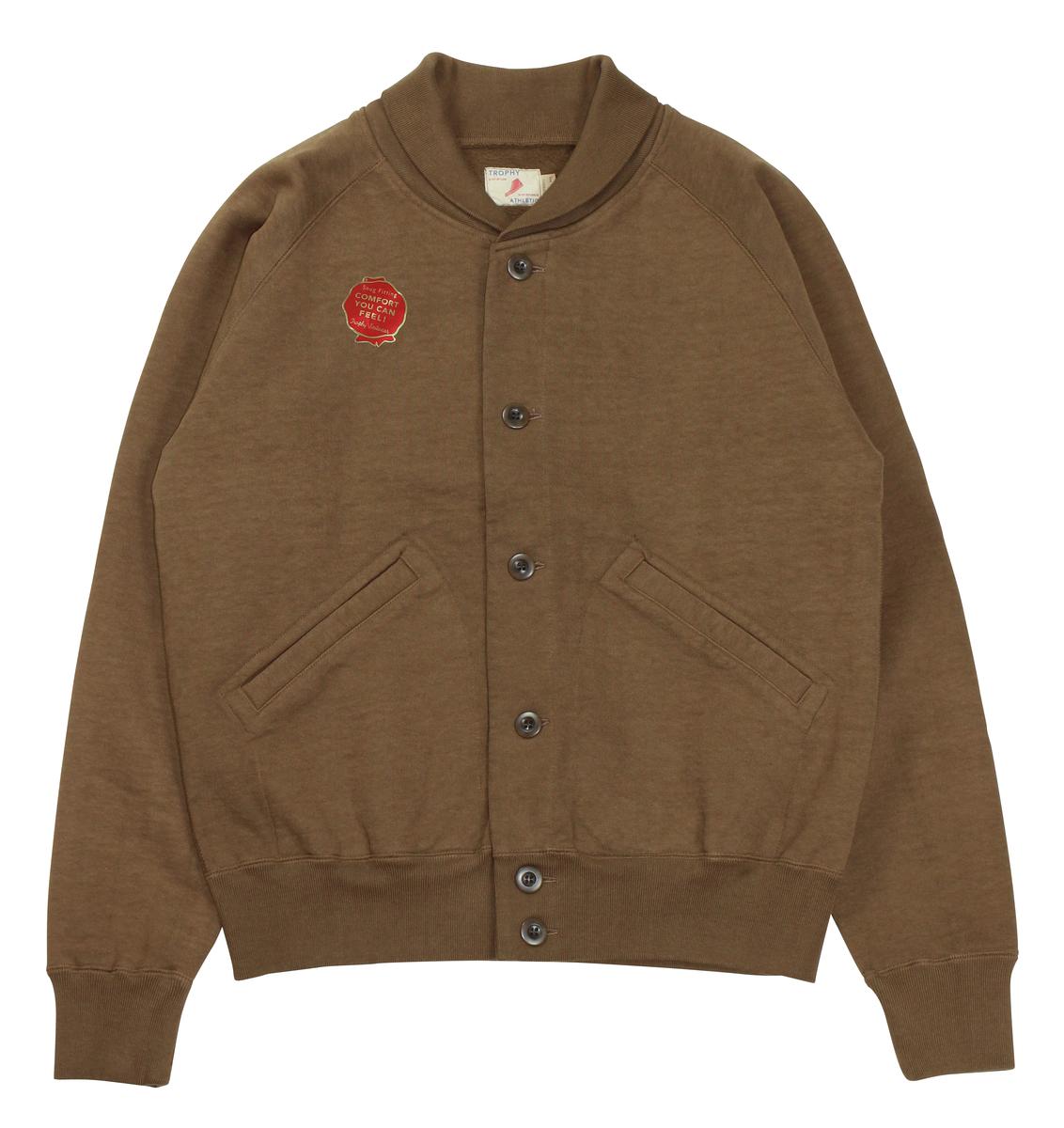 TROPHY CLOTHING [-OD A-1 Sweat- Mocha size.36,38,40,42]