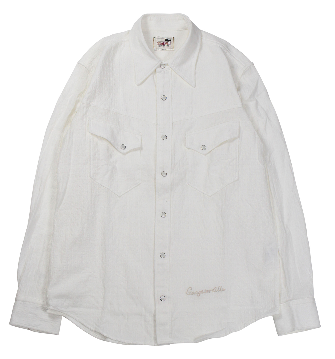 GANGSTERVILLE [-KINGSLAND - L/S SHIRTS- WHITE size.S,M,L,XL]