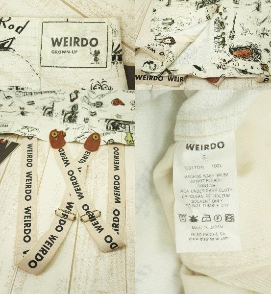 WEIRDO SCRIBBLED BIG PANTS サスペンダー付き ファッション8nwmOyN0v