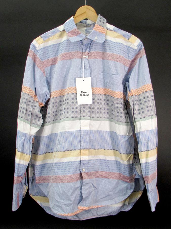 【中古】Engineered Garments 17SS シャツ ROUNDED COLLAR PATTERN SHIRT マルチ【ファッション】※2017年9月入荷