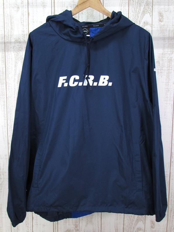 【中古】F.C.Real Bristol 17AW BACK STRIPE ANORAK FCRB-178005 ナイロン フーディー【ファッション】※2018年6月入荷※