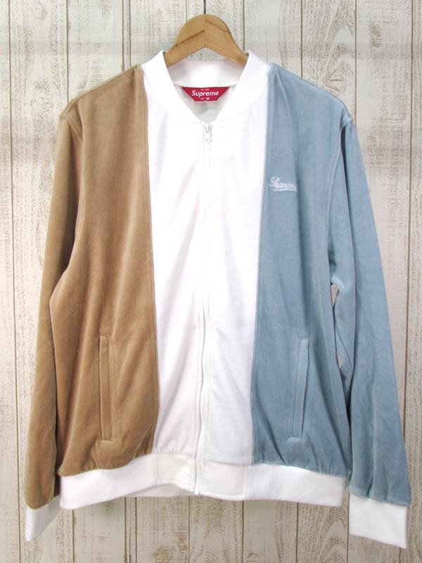 【中古】Supreme 18SS Velour Zip Up Jacket シュプリーム ベロア ジャケット【ファッション】※2018年10月入荷※