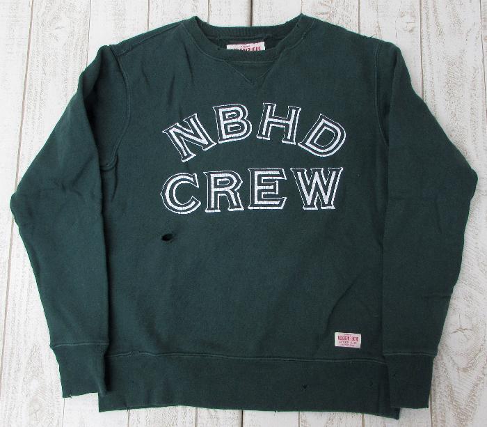 【中古】NEIGHBORHOOD 14AW UNIV C-CREW LS 142STNH-CSM07 ネイバーフッド ダメージ加工【ファッション】※2019年3月入荷※