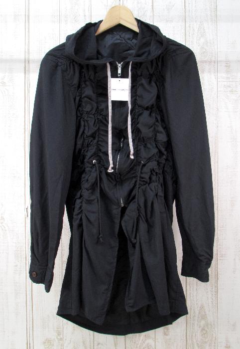 【中古】COMME des GARCONS HOMME PLUS 19ss シャーリングフーデッドシャツコート PC-J018-051【ファッション】※2019年12月入荷※