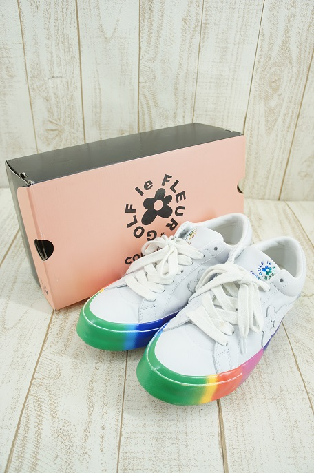 【中古】CONVERSE × Tyler The Creator Golf le Fleur One Star ox スニーカー【ファッション】※2020年2月入荷※