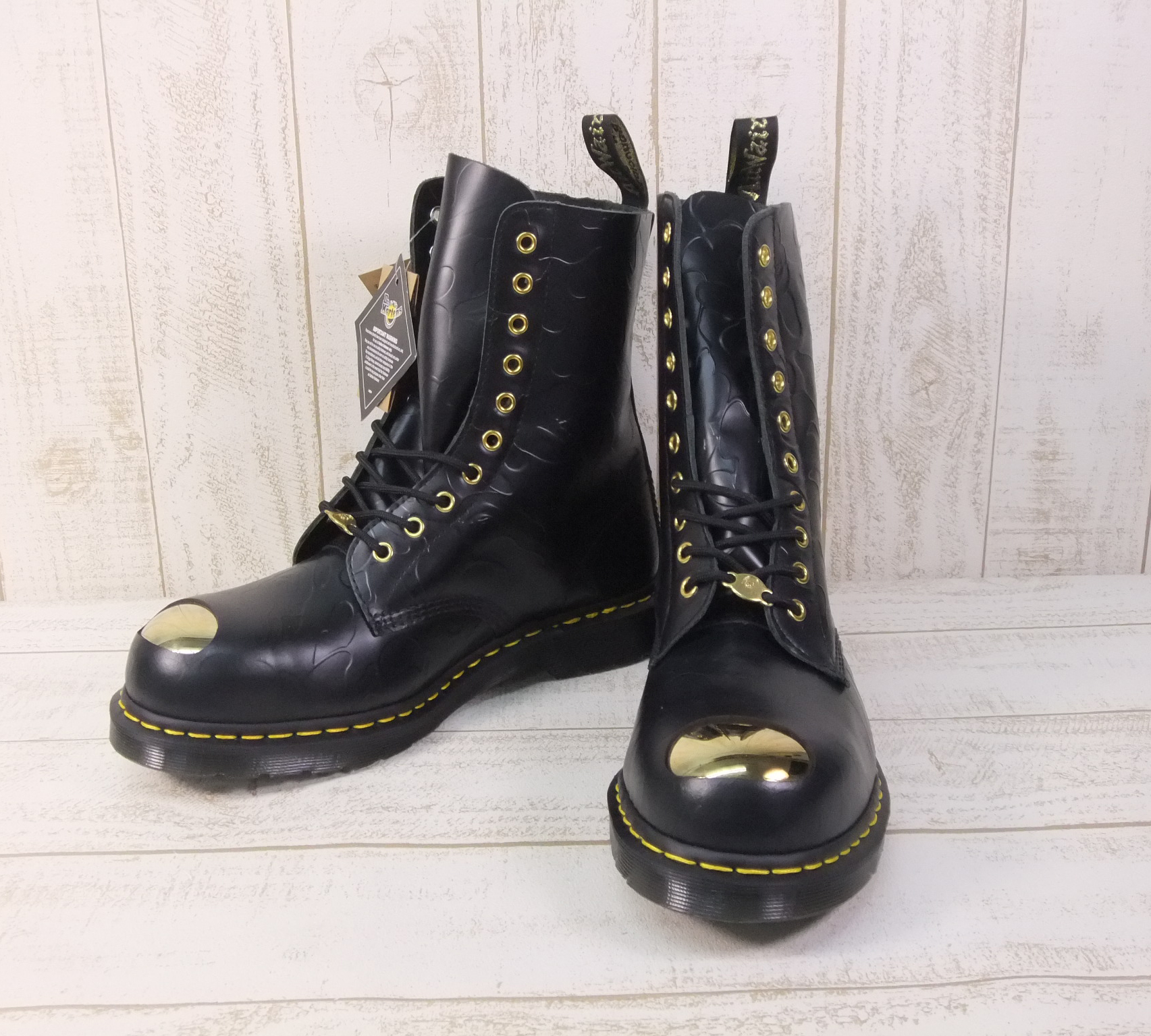 【中古】 BAPE × Dr.MARTENS 10 HOLE STEEL TOE CAP SHOES ブーツ 【ファッション】※2020年7月入荷※