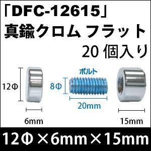 安心の実績 高価 買取 強化中 飾りビス DFC-12615 真鍮クロム セット 買い取り フラット 20個入り