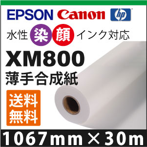 XM800 薄手合成紙  (1067mm×30m)