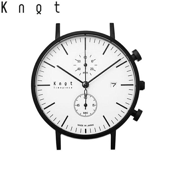 """【ギフト包装無料】Knot(ノット)""""クラシック クロノグラフ""""ブラック & ホワイト(モノトーンコレクション)時計本体のみ(ベルト別売り)腕時計/メンズ/レディース/サファイアガラス/日本製/MADE IN JAPAN/"""