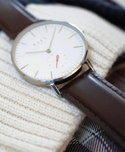 "low priced bb981 79603 【ギフト包装無料】Knot(ノット)""クラシック スモールセコンド""シルバー &  アイボリー時計本体のみ(ベルト別売り)腕時計/メンズ/レディース/サファイアガラス/日本製/MADE IN JAPAN/【ギフト】|Maker's  Watch Knot"