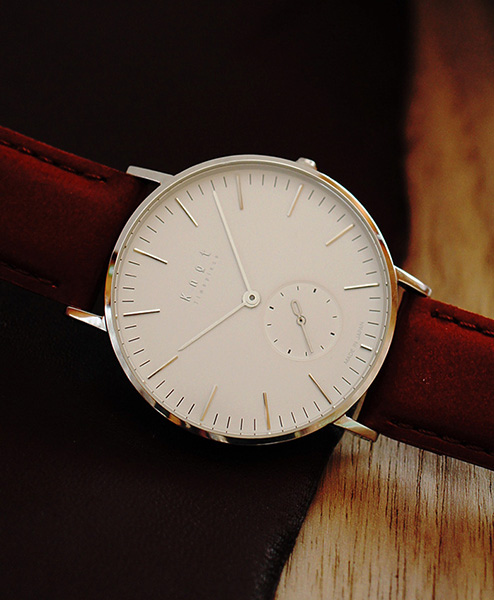"wholesale dealer 9c4ee a0e9c 【ギフト包装無料】Knot(ノット)""クラシック スモールセコンド""シルバー &  ホワイト時計本体のみ(ベルト別売り)腕時計/メンズ/レディース/サファイアガラス/日本製/MADE IN JAPAN/【ギフト】|Maker's  Watch Knot"