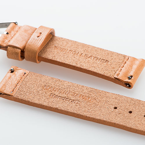 Knot(ノット)栃木レザーベルト ストレートシェイプ 時計ベルト 18mmオリーブ & ローズゴールドバックルベルトのみ購入はメール便のため代引き・着日指定・包装は不可栃木レザーボーノオイル/フルグレインレザー/シボ牛革/日本製