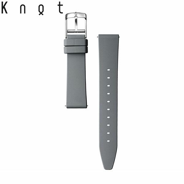 今日の服に 今日の時計 tsr-16dg Knot ノット シリコンラバーストラップ 時計ベルト 18mm 専門店 スペアベルト 包装は不可 ベルトのみ購入はメール便のため代引き 腕時計ストラップ ダークグレー 新作入荷 着日指定 日本製