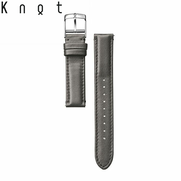 今日の服に メーカー在庫限り品 今日の時計 SWP-18GR Knot ノット 防水レザー ストレートシェイプ 3Mスコッチガード 時計ベルト 日本製 腕時計ストラップ グレー 早割クーポン 18mm ベルトのみ購入はメール便のため代引き 包装は不可 着日指定 スペアベルト
