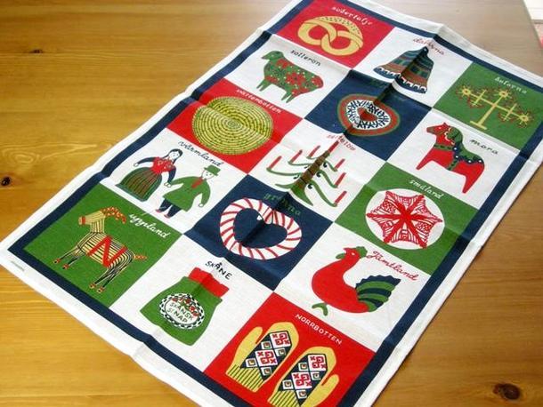 クリスマスにピッタリのキッチンタオル タペストリー クリスマス アルメダールス 新色追加 北欧 Landscape ランドスケープ ティータオル スウェーデン おしゃれ かわいい almedahls マーケティング キッチンタオル クリスマス雑貨