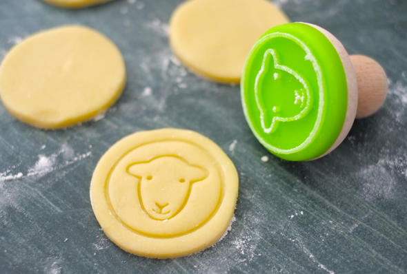 Hardy sheep cookie stamp silicone cookie cutter kitchen gadgets ☆ gift sheep / sheep / sheep Zodiac
