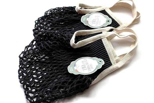 Fun mesh shopping bags made in France lantor filt company net bag (black & white - M size) filt net bag cha入re bag washing net storage