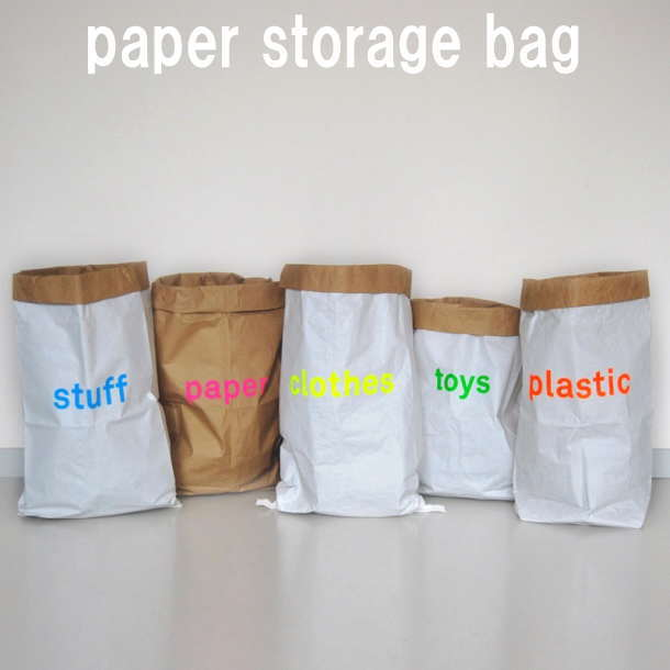 Beau Cute Kolor Color Paper Bag Paper Bag Interior Storage Bag Storage Bag  Garbage Bag Storage Piece With