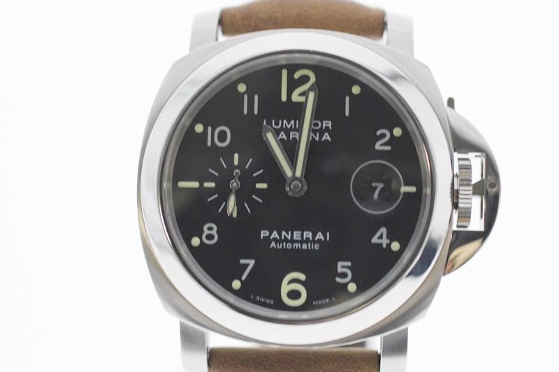 【中古】PANERAI パネライ ルミノールマリーナ PAM00164 黒文字盤 自動巻き USED-A メンズ 腕時計 m19-1200302925800002