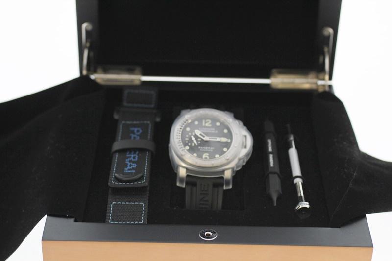 【中古】PANERAI パネライ ルミノールサブマーシブル PAM00024 黒文字盤 自動巻き USED-A メンズ 腕時計 m19-1200302925800003