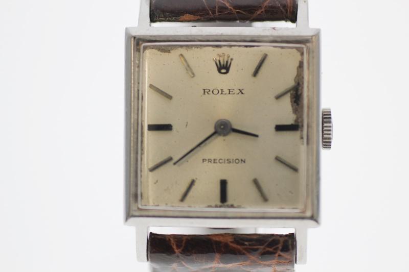 【中古】ROLEX プレシジョン アンティーク レディース 1400 シルバー文字盤 自動巻き USED-C 腕時計  m19-1200293925800072